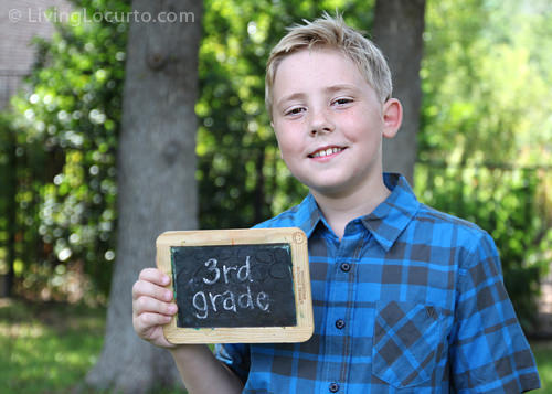 Simple chalkboard back-to-school photo
